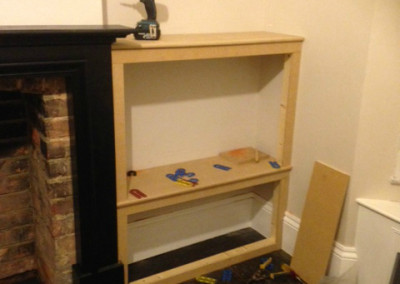 Design and build of fire surround and TV cabinet